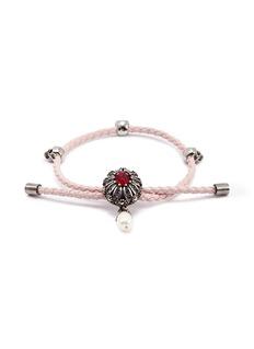 Alexander McQueen Swarovski crystal charm friendship bracelet