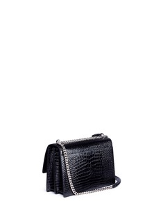 Saint Laurent 'Sunset' large croc embossed leather shoulder bag