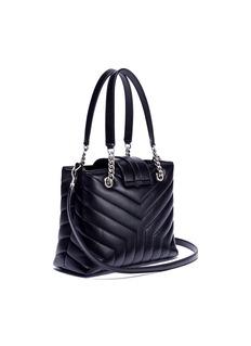SAINT LAURENT 'Loulou' small matelassé calfskin leather shopping tote