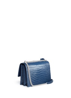Saint Laurent 'Sunset' medium croc embossed leather shoulder bag