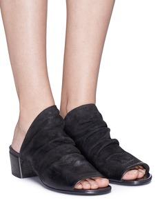 MARSÈLL BO SANDALO光泽皱感真皮穆勒鞋