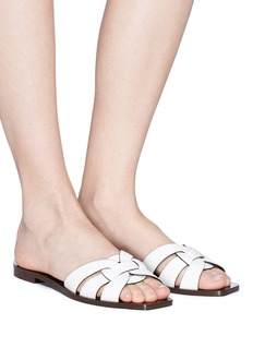 SAINT LAURENT Nu Pieds镂空搭带真皮凉鞋