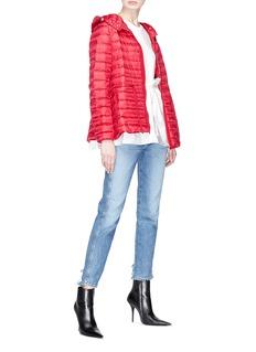 MONCLER Raie系带设计绗缝羽绒夹克
