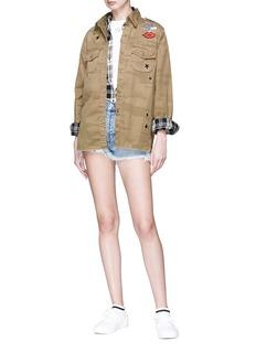 Current/Elliott 'The Ultra' frayed cuff denim shorts