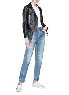 SAINT LAURENT Logo stitched straight jeans
