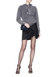 SAINT LAURENT Tie-dye drawstring faded hoodie