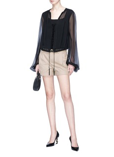 SAINT LAURENT Rolled cuff shorts