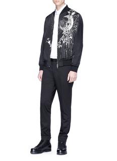 Alexander McQueen Moon embroidered bomber jacket