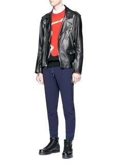 Alexander McQueen Zip cuff cropped jogging pants