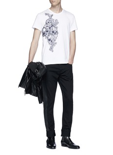 Alexander McQueen Skull embroidered T-shirt