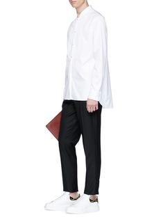 Alexander McQueen Bib poplin shirt