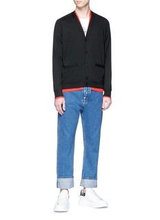 Alexander McQueen Contrast detail cashmere cardigan
