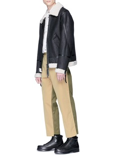 Alexander McQueen Colourblock cropped twill chinos
