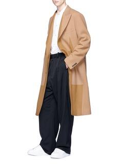Alexander McQueen Panelled melton coat
