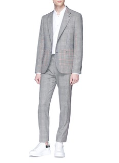 Alexander McQueen 'Prince of Wales' check plaid houndstooth blazer
