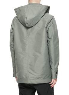 RICK OWENS 可收纳式兜帽oversize防风夹克