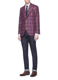 ISAIA 'Gregory' check plaid blazer
