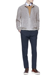 ISAIA Perforated suede jacket