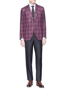 ISAIA Straight leg wool twill pants
