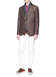 ISAIA 'Gregory' twill blazer
