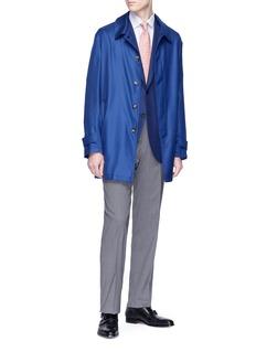 ISAIA Cashmere-silk twill coat