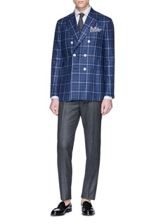 ISAIA 'Sailor' check plaid blazer