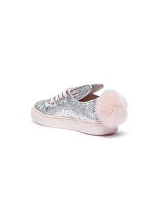 Minna Parikka Tail Sneaks Mini儿童款毛球点缀兔子造型闪粉运动鞋