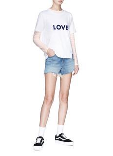 Kule Love英文字纯棉T恤
