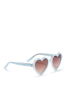 Sons+Daughters Eyewear 'Lola' heart frame acetate kids sunglasses