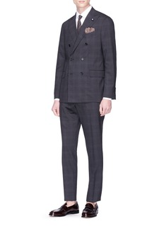 Lardini 'Supersoft' windowpane check suit