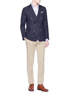 Lardini 'Easy' double-breasted linen soft blazer