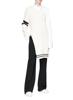 MRZ Asymmetric one-shoulder rib knit dress