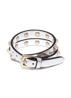 Valentino 'Rockstud' double wrap bracelet