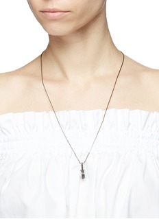 Valentino Crystal pavé faux pearl pendant necklace