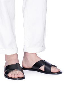 ANCIENT GREEK SANDALS 'Kritonas' cow leather slide sandals