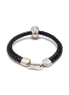Alexander McQueen Skull charm braided leather bracelet