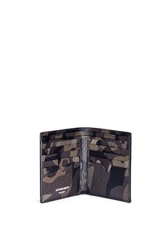Alexander McQueen Camouflage print leather bifold wallet