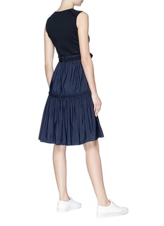 Moncler Taffeta skirt belted knit dress