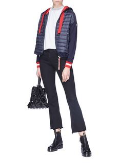 Moncler Sweatshirt panel hooded down puffer jacket