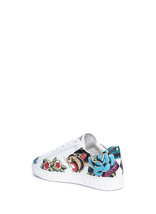 Detail View - Click To Enlarge - Ash - 'Panthera' mixed print leather sneakers