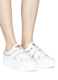 Ash 'Clone' strass stud leather platform sneakers