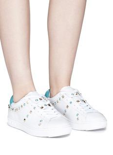 ASH Play铆钉及仿水晶装饰真皮运动鞋