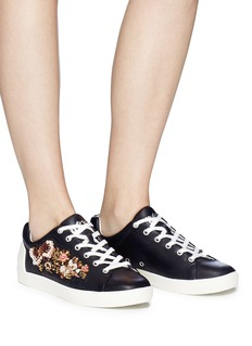 Ash 'Naoki' floral embellished leather sneakers