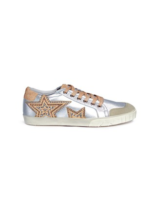Main View - Click To Enlarge - Ash - 'Magic' star patch metallic leather sneakers