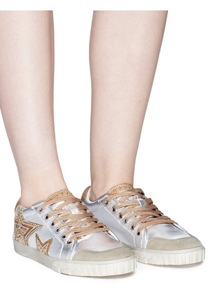 Figure View - Click To Enlarge - Ash - 'Magic' star patch metallic leather sneakers