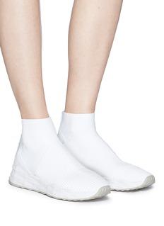 ASH Spot真皮拼接针织运动袜靴