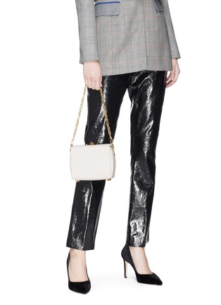 Front View - Click To Enlarge - Alexander McQueen - 'Box Bag 16' in goatskin leather