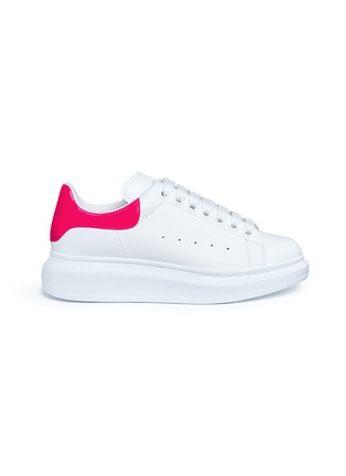 Main View - Click To Enlarge - Alexander McQueen - 'Larry' chunky outsole leather sneakers