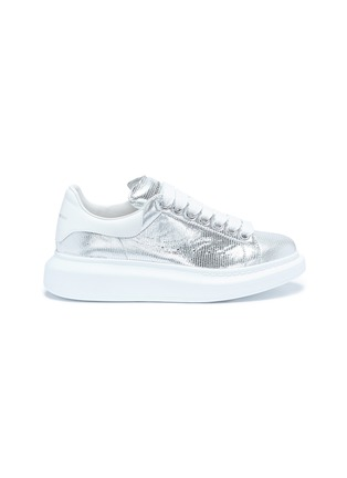 Main View - Click To Enlarge - Alexander McQueen - 'Larry' chunky outsole metallic leather sneakers