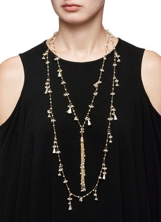 Rosantica 'Allegria' faux pearl tassel tiered necklace